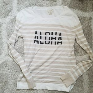 "J.Crew striped ""aloha"" sweater"